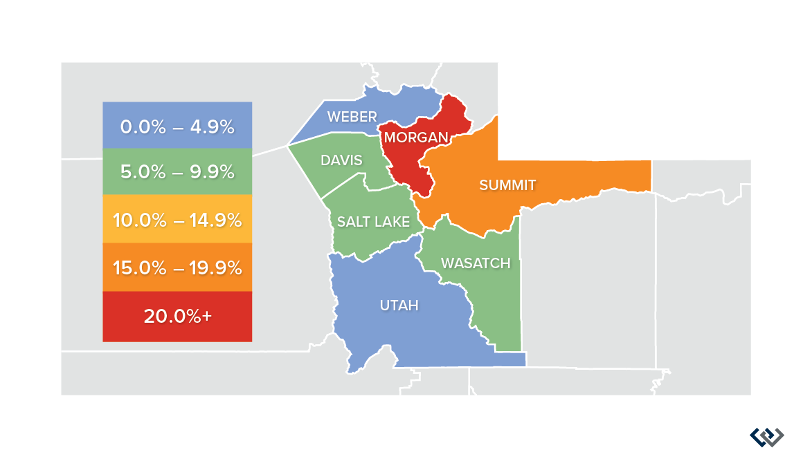 Windermere-Real-Estate-Utah-Gardner-Report-Q220-Utah-Market-Trends-PriceChangeMap@2x